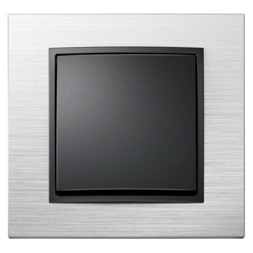 berker wippschalter aus wechsel mit wippe anthrazit und rahmen b 7 edelstahl ebay. Black Bedroom Furniture Sets. Home Design Ideas
